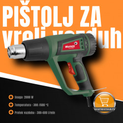 Pištolj za vreli vazduh WOMAX W-HP 2000